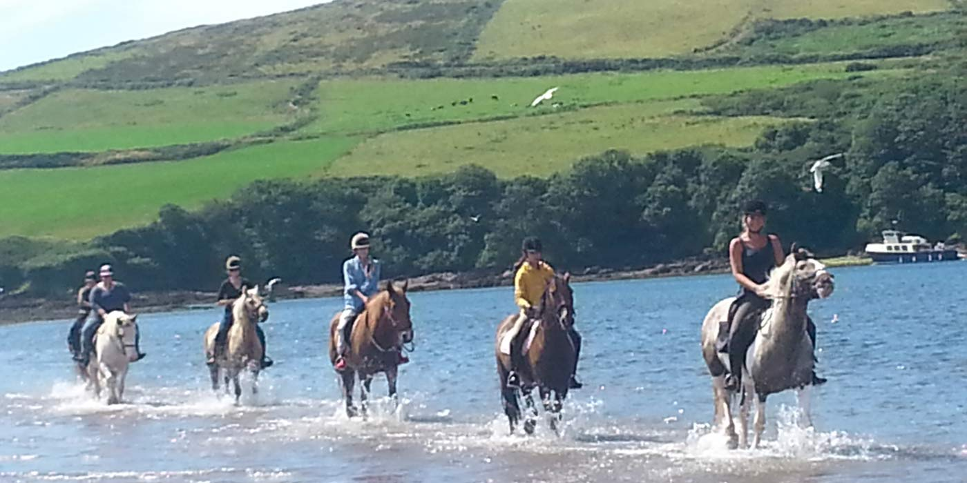 The dramatic beauty of the Dingle Peninsula is ideal for an enjoyable day horseriding.
