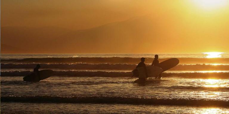 Surfing on the Dingle Pensinsula